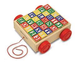 Classic ABC Block Cart Educational Toy