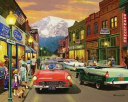 Main Street Small Town Jigsaw Puzzle