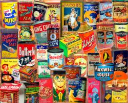 Vintage Tins Pattern / Assortment Jigsaw Puzzle