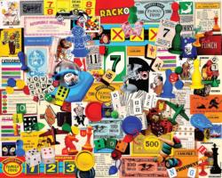 Game Pieces Collage Jigsaw Puzzle