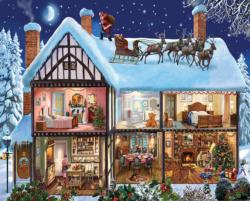 Christmas House Domestic Scene Jigsaw Puzzle