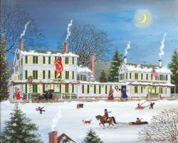 Winter - Griswold Inn Snow Jigsaw Puzzle