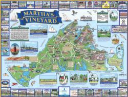 Martha's Vineyard, MA Geography Jigsaw Puzzle