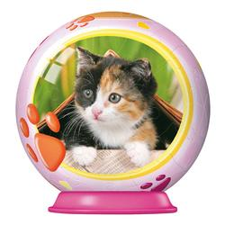 Animal Babies 54pc Puzzleball - Kitten Cats Puzzleball