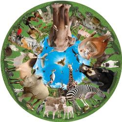 Animal Arena (Round Table Puzzle) Jungle Animals Round Jigsaw Puzzle