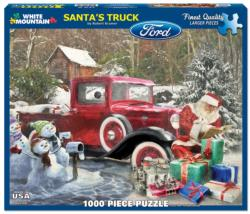 Santa's Truck Christmas Large Piece