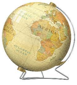 Vintage Globe Nostalgic / Retro 3D Puzzle