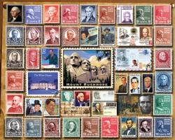 Presidential Stamps Collage Jigsaw Puzzle