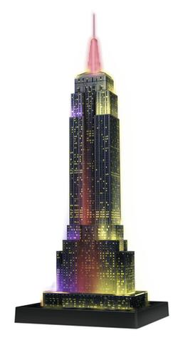 Empire State Building - Night Edition 3D New York Plastic Puzzle