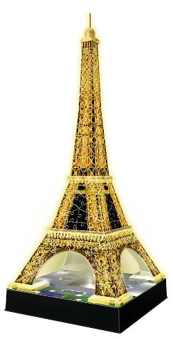 Eiffel Tower - Night Edition Paris Plastic Puzzle