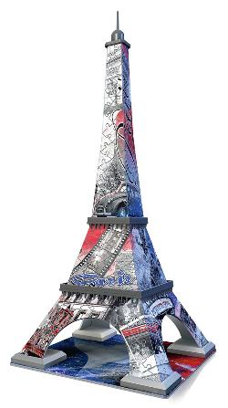 Eiffel Tower - Flag Edition Europe 3D Puzzle