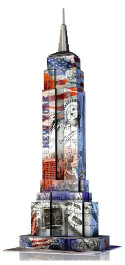 Empire State Building - Flag Edition United States Jigsaw Puzzle