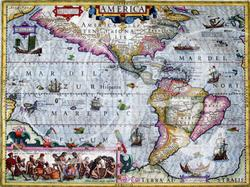 Map of the Americas (1606) Maps Wooden Jigsaw Puzzle