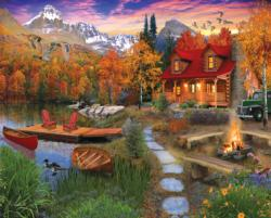 Cozy Cabin Collage Jigsaw Puzzle