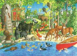 Woodland Friends Wildlife Jigsaw Puzzle