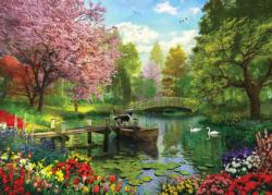 Forest Lake Lakes / Rivers / Streams Jigsaw Puzzle