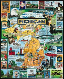 Best of Michigan Lakes / Rivers / Streams Jigsaw Puzzle