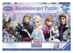 Frozen Friends Cartoons Panoramic Puzzle