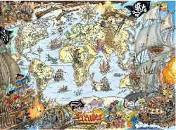 Pirate Map Pirates Jigsaw Puzzle