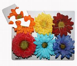 Flowers (12pc) Dementia / Alzheimer's Large Piece