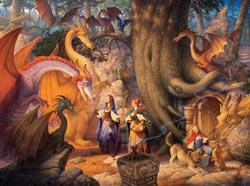 Confabulation of Dragons Dragons Jigsaw Puzzle
