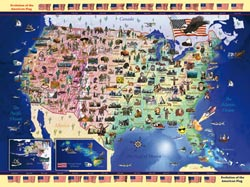 USA Map United States Jigsaw Puzzle
