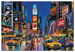 Times Square, Neon Cities Jigsaw Puzzle