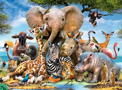 African Friends Jungle Animals Large Piece