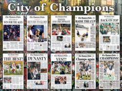 Boston City of Champions Collage Jigsaw Puzzle