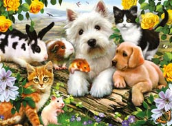 Happy Animal Buddies Spring Jigsaw Puzzle