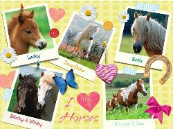 Favorite Horses Hearts Jigsaw Puzzle