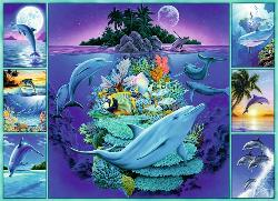 Dolphin Collage Under The Sea Children's Puzzles
