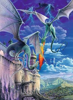 Breathing Fire Landscape Jigsaw Puzzle