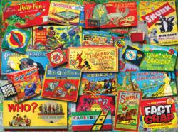 Family Game Night Collage Jigsaw Puzzle