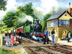Country Stop - Scratch and Dent Trains Jigsaw Puzzle