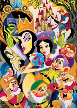 Enchantment of Snow White Abstract Jigsaw Puzzle