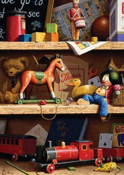Toy Shelf Everyday Objects Large Piece