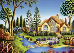 Cottage Dream Countryside Large Piece