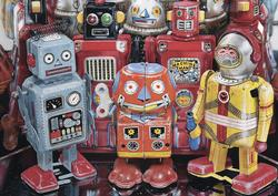 Tin Robots Nostalgic / Retro Large Piece