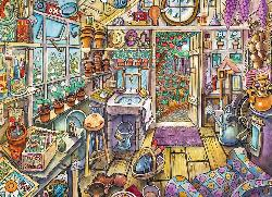Cozy Potting Shed Cartoons Large Piece