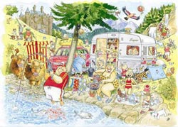 Wasgij Mystery #6:  Camping Commotion Wasgij Jigsaw Puzzle