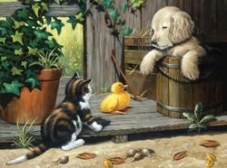 Three Buddies Dogs Jigsaw Puzzle