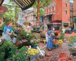 Sidewalk Flower Sale Garden Jigsaw Puzzle