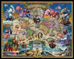 Great Explorers Wold Map Maps / Geography Jigsaw Puzzle