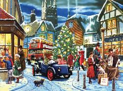 Christmas Streets Street Scene Jigsaw Puzzle