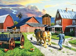 End of a Working Day Farm Jigsaw Puzzle
