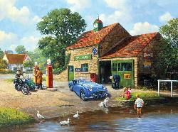 The Village Pump Motorcycles Jigsaw Puzzle