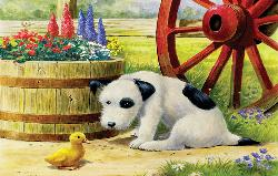 Pup and Friend Baby Animals Jigsaw Puzzle