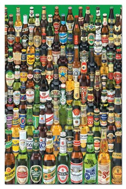 Beers (Mini) Food and Drink Miniature