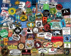 Beer's of New England Cocktails / Spirits Jigsaw Puzzle